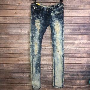 Machine Skinny Distressed Jeans Size 30